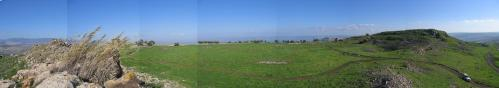 Panorama Hattin sekarang di dekat Danau Tiberias